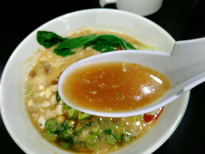 麺屋熊胆 担々麺 スープ