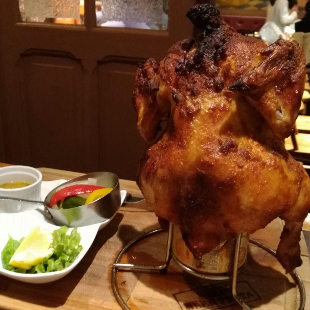 キリンビアフェスタの若鶏丸焼き