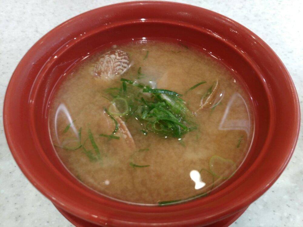 かっぱ寿司 貝の味噌汁