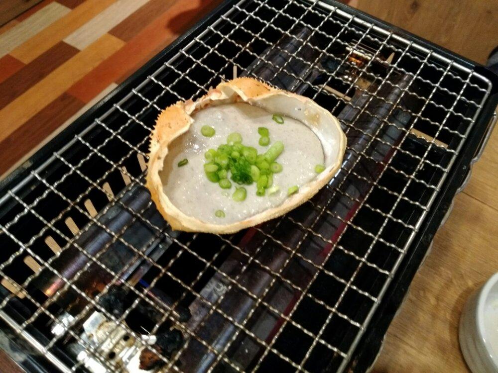 磯丸水産 仙台一番町 蟹味噌甲羅焼き